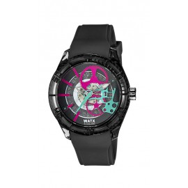 Reloj Watx & Colors Skeleton negro