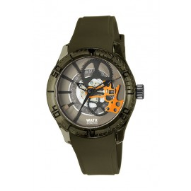 Reloj Watx & Colors Skeleton unisex verde