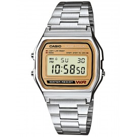 Reloj Casio Collection unisex retro acero plateado