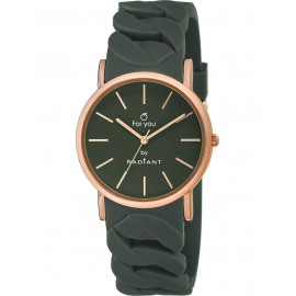 Reloj Radiant New For You caucho azul grisáceo caja rosé