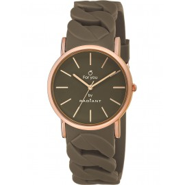 Reloj Radiant New For You caucho marrón caja rosé
