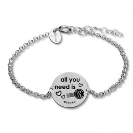 Pulsera plata mensaje All you need is love
