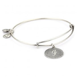 Pulsera Alex and Ani letra I plateada
