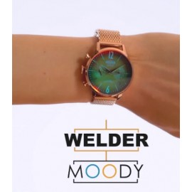 Reloj Welder malla rose gold