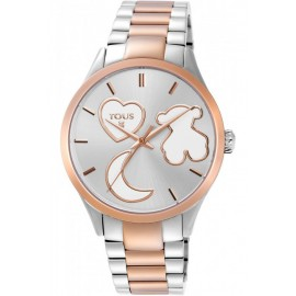 Reloj Sweet Power bicolor de acero/IP rosado