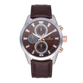 Reloj Radiant guardian color chocolate y correa piel